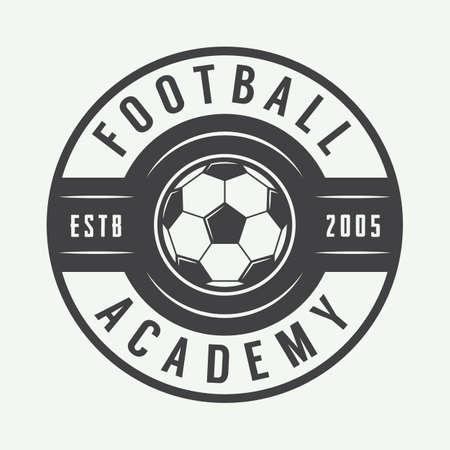 Vintage voetbal of voetbal, embleem, kenteken. vector illustratie
