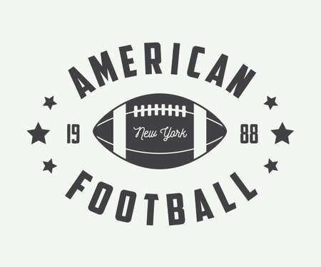 american falls: Vintage rugby and american football labels