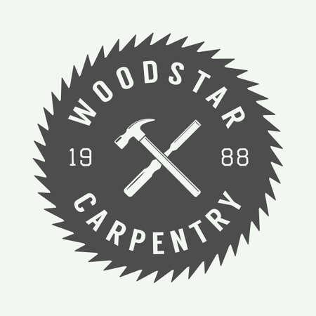 blade cut: Vintage sawmill label, emblem