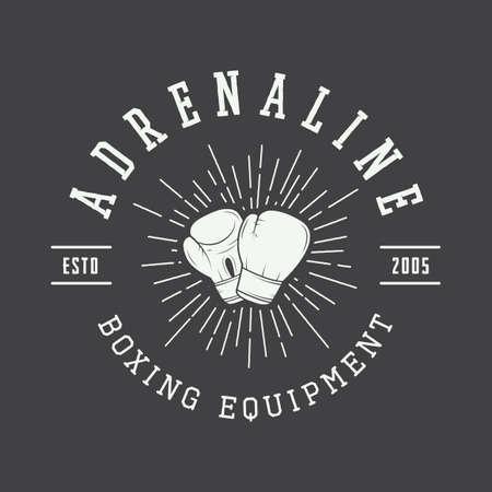 knockdown: Boxing and martial arts  Illustration