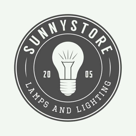 lampshade: Vintage lamp and lighting, emblem, badge and design element. Vector illustration Illustration