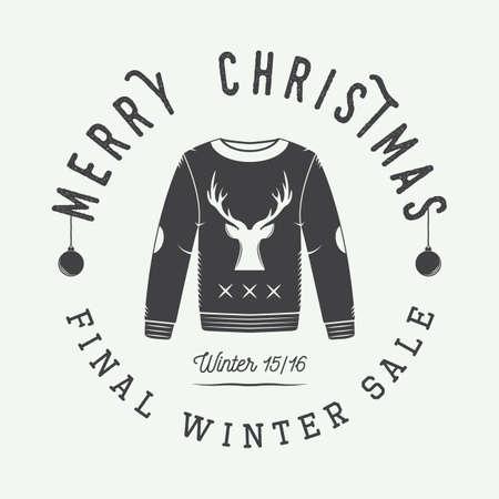 sueter: Feliz Navidad de la vendimia o rebajas de invierno