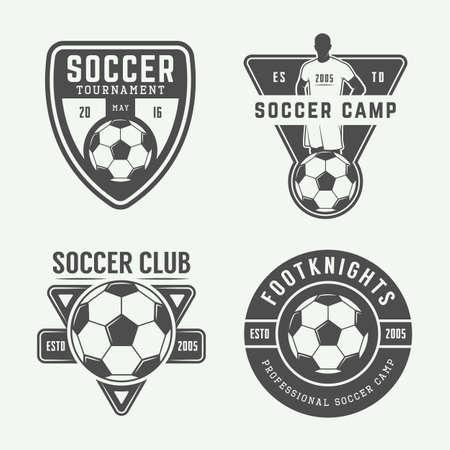 Set of vintage soccer or football Banco de Imagens - 49778372