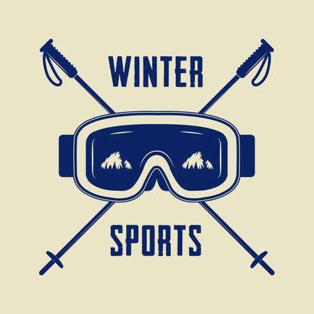 Vintage winter sports Banco de Imagens - 49778374
