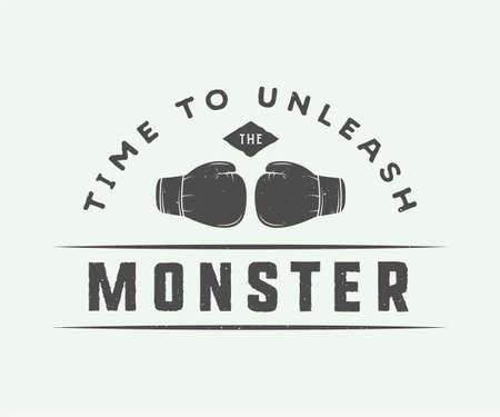 inspiration: Vintage boxing slogan with motivation and inspiration. Graphic Design.