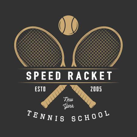 Vintage tennis badge, emblem and much more. Graphic art. Vector Illustration. Illustration