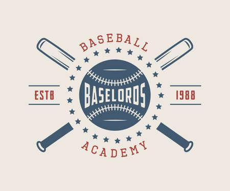 Vintage baseball logo, emblem, badge and design elements. Vector illustration Banco de Imagens - 61128674