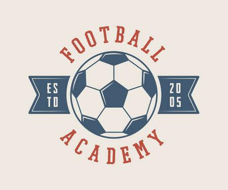 penalty: Vintage soccer or football logo, emblem, badge. Vector illustration Illustration