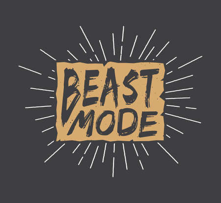 unleash: Vintage motivation logo, emblem, label, poster or design print. Inspirational quote with typography. Vector Illustration