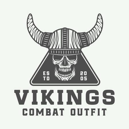 Vintage vikings logo. Illustration