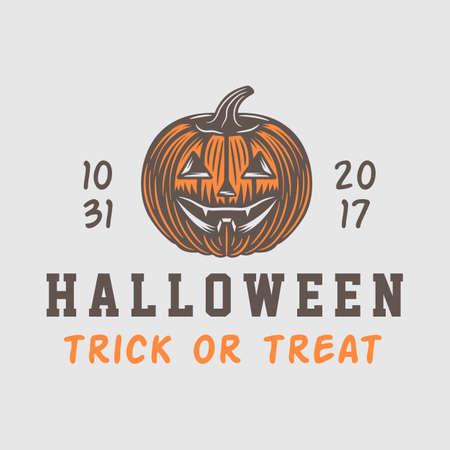 Vintage retro halloween theme design suitable for logo, emblem, badge, label, mark, patches