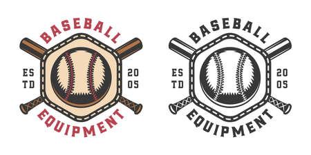 Vintage baseball sport logo, emblem, badge, mark, label. Graphic Art. Illustration. Vector.
