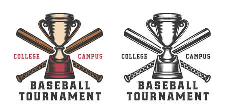 Vintage baseball sport logo Ilustração