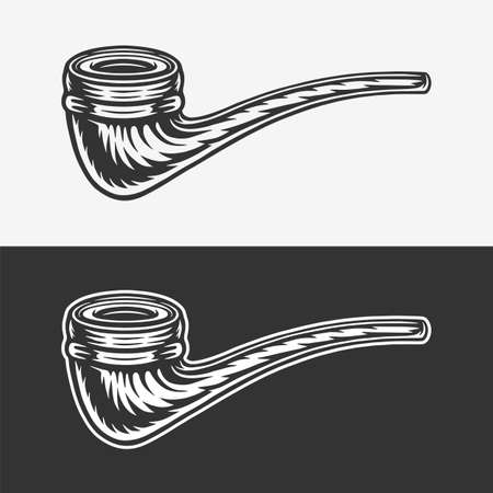 Vintage retro woodcut sailor sea smoking pipe. Can be used like emblem, logo, badge, label. mark, poster or print. Monochrome Graphic Art. Vector.