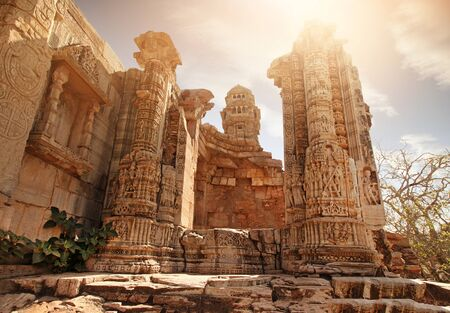 India Chittorgarh ruins of the palace
