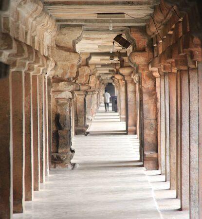 India Tanjavur Colonade in the Temple
