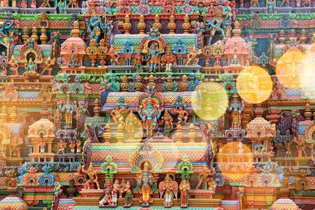 India Tiruchirapalli Statues of the Gods on the Temple