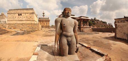 India Shravanabelagola statue of Gomateswara Stock Photo