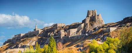 The Fortress of Van, also Van Kalesi, is a massive stone fortification built by the ancient kingdom of Urartu during the 9th to 7th centuries BC, and is the largest example of its kind. Van, Turkey