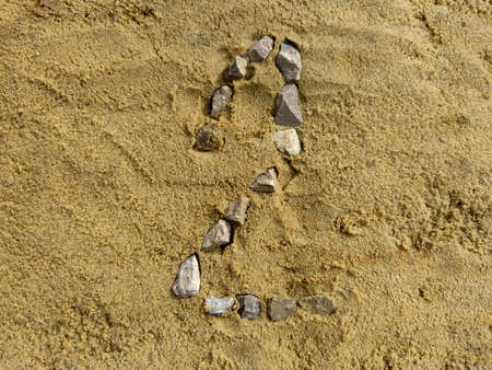 Number 2 on the sand, laid with fine gravel