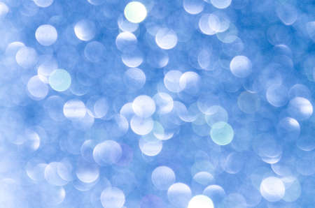 blue abstract bokeh background, creative design. holiday decoration.