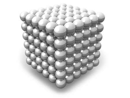Neocube isolated on white photo