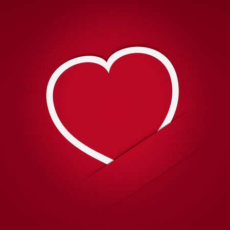 paper heart: Heart of paper postcard