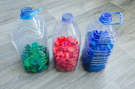 waste recycling. Selective focus, plastic bottle for recycle waste, Waste separation concept. ecology Banque d'images