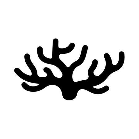 Silhouette Spongilla icon.