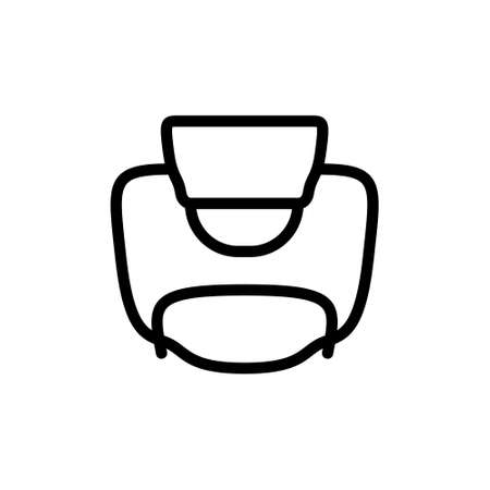 Wire for bottle. Linear icon of Flip-top lid. Black simple illustration of vintage accessory, grolsch swing top clamp cap. Contour isolated vector pictogram, white background