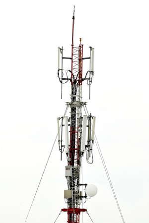 telephonic: Antenna tower isolated on white background