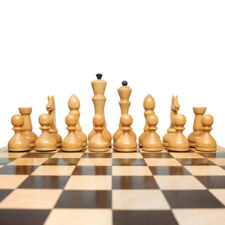 maneuver: chess on a white background
