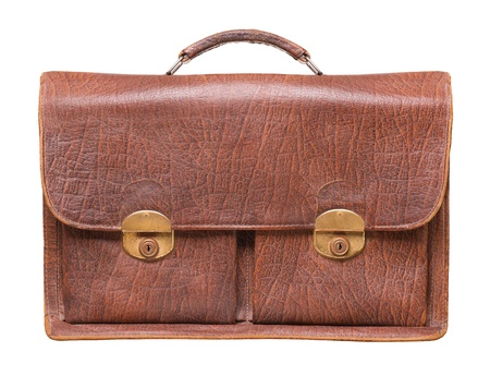 brief case: briefcase on a white background