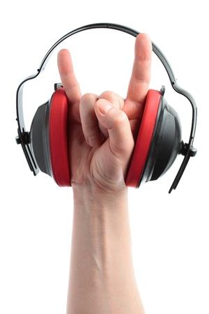 bruit: headphones and hand