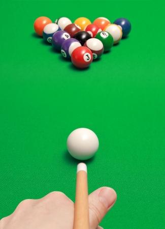 game of billiards photo