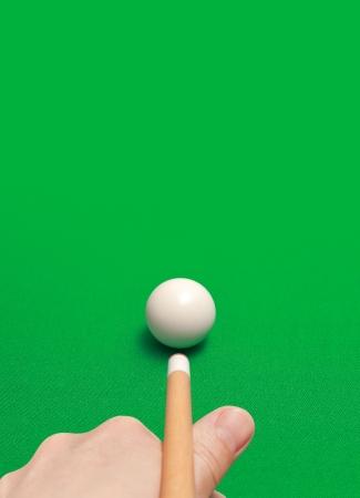 game of billiards Stock Photo