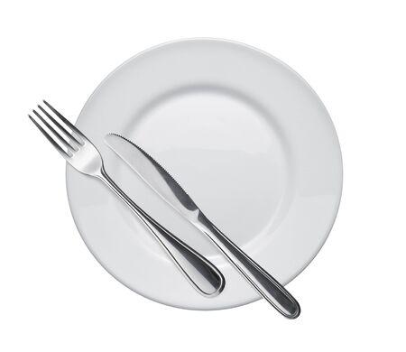 flatware: dish and flatware Stock Photo