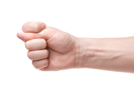 avidity: Fig  Gesture of the hand on white background Stock Photo