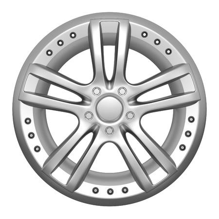 Car wheel on a white background photo