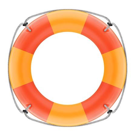 guard ship: Lifebuoy on a white background Stock Photo