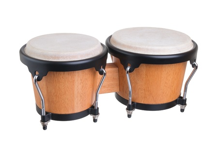 bongos on a white background Stock Photo