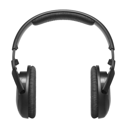 headphones: Headphones on a white background