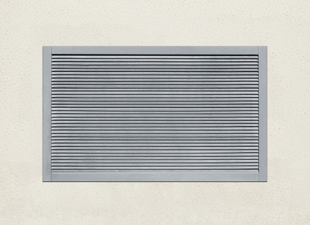 louvered: ventilation grid embedded in wall