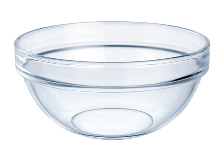 Glassware. Empty bowl on a white background