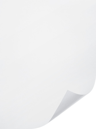 blank paper sheet on white background photo