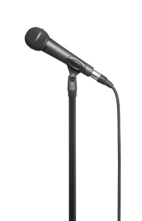 Microphone on a white background photo