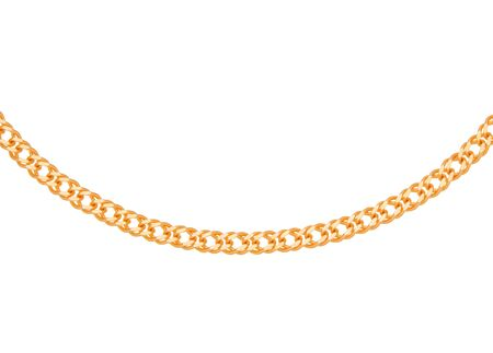 gold chain: Gold chain on white background Stock Photo