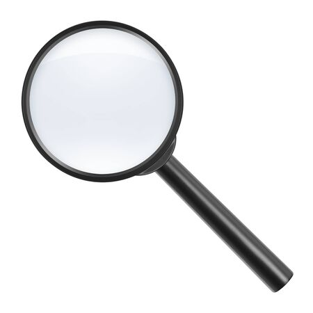magnifying glass on white background Stock Photo - 18423434