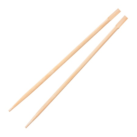 chopsticks on a white background photo