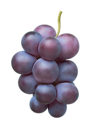 wine and grapes: Grape on white background Stock Photo
